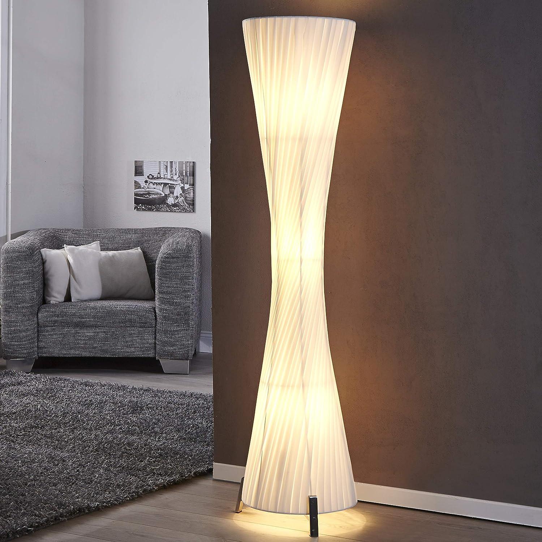 Cagu Xl Design Retro Lounge Stehlampe Stehleuchte Loop Weiss