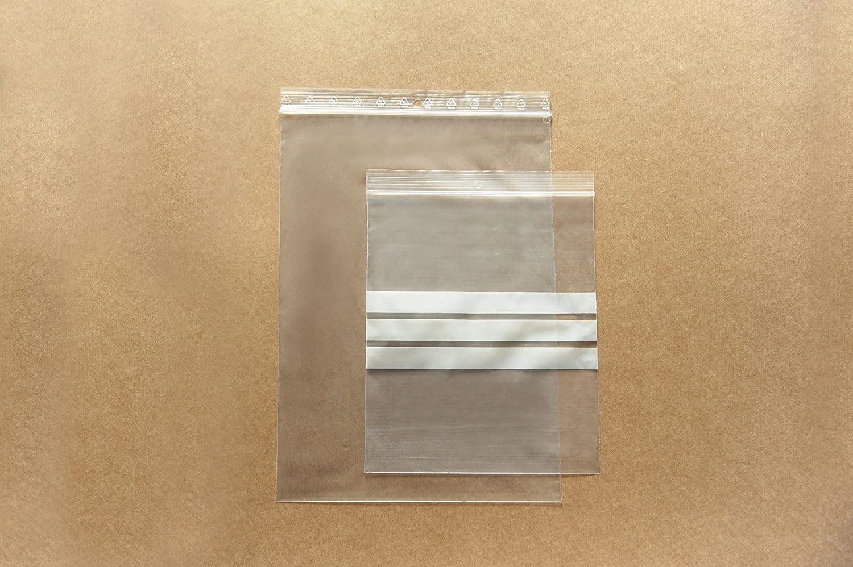 Buste Trasparenti con Chiusura a Pressione Carte Dozio F.to Interno mm 60x80-100 pz conf.