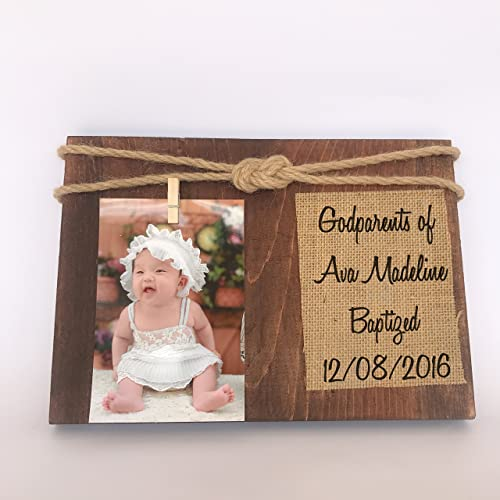 Amazon.com: godparents gift. godparents picture frame. baptism gift ...