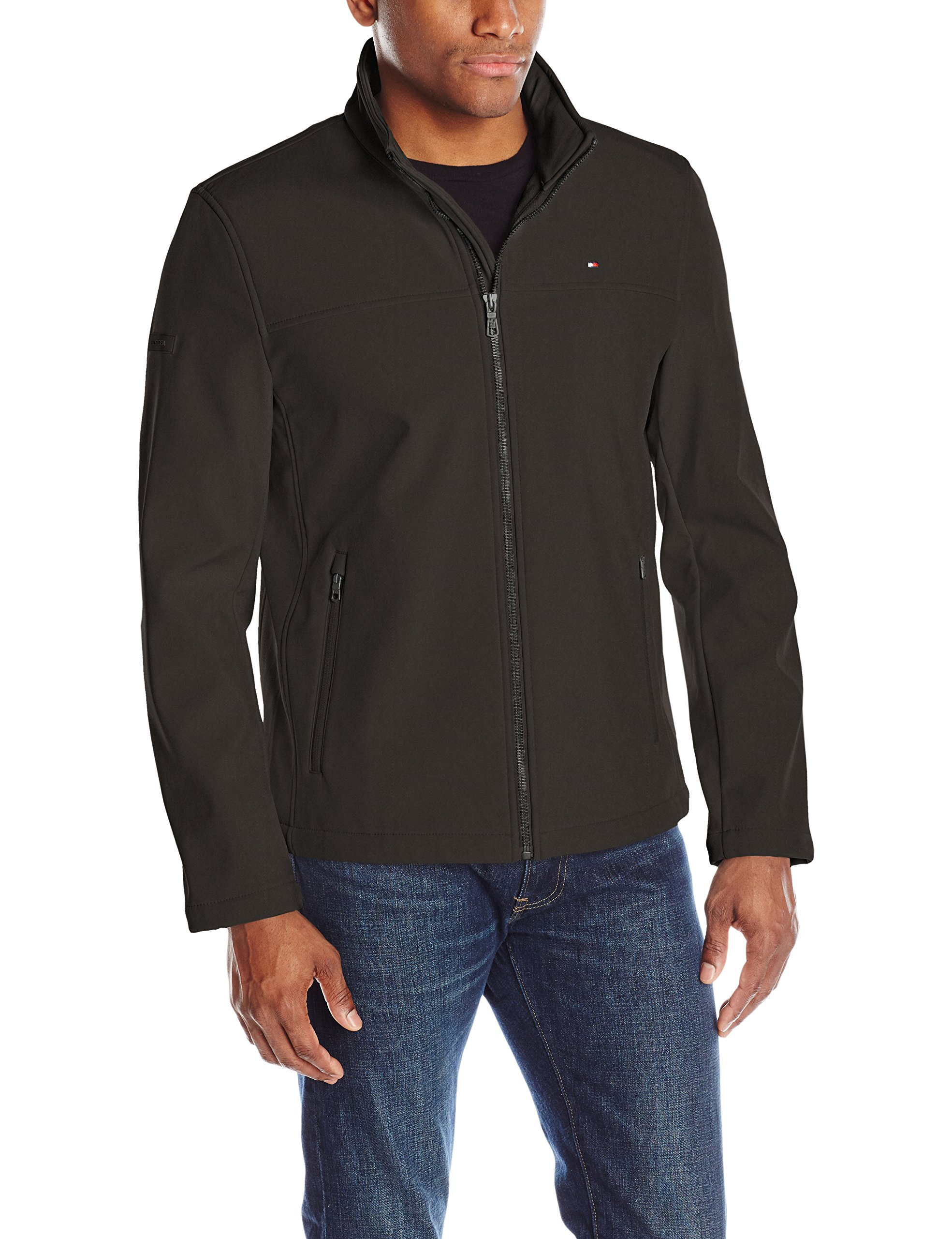 Tommy Hilfiger Men's Classic Soft Shell Jacket, Black, XX-Large by Tommy Hilfiger