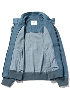 Denim Harrington Jacket 51-18-0278-819: Blue