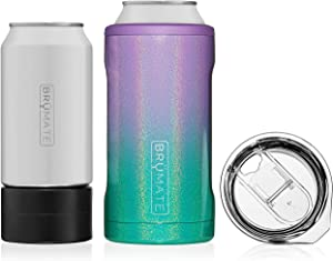 BrüMate HOPSULATOR TRíO 3-in-1 Stainless Steel Insulated Can Cooler, Works With 12 Oz, 16 Oz Cans And As A Pint Glass (Mermaid)