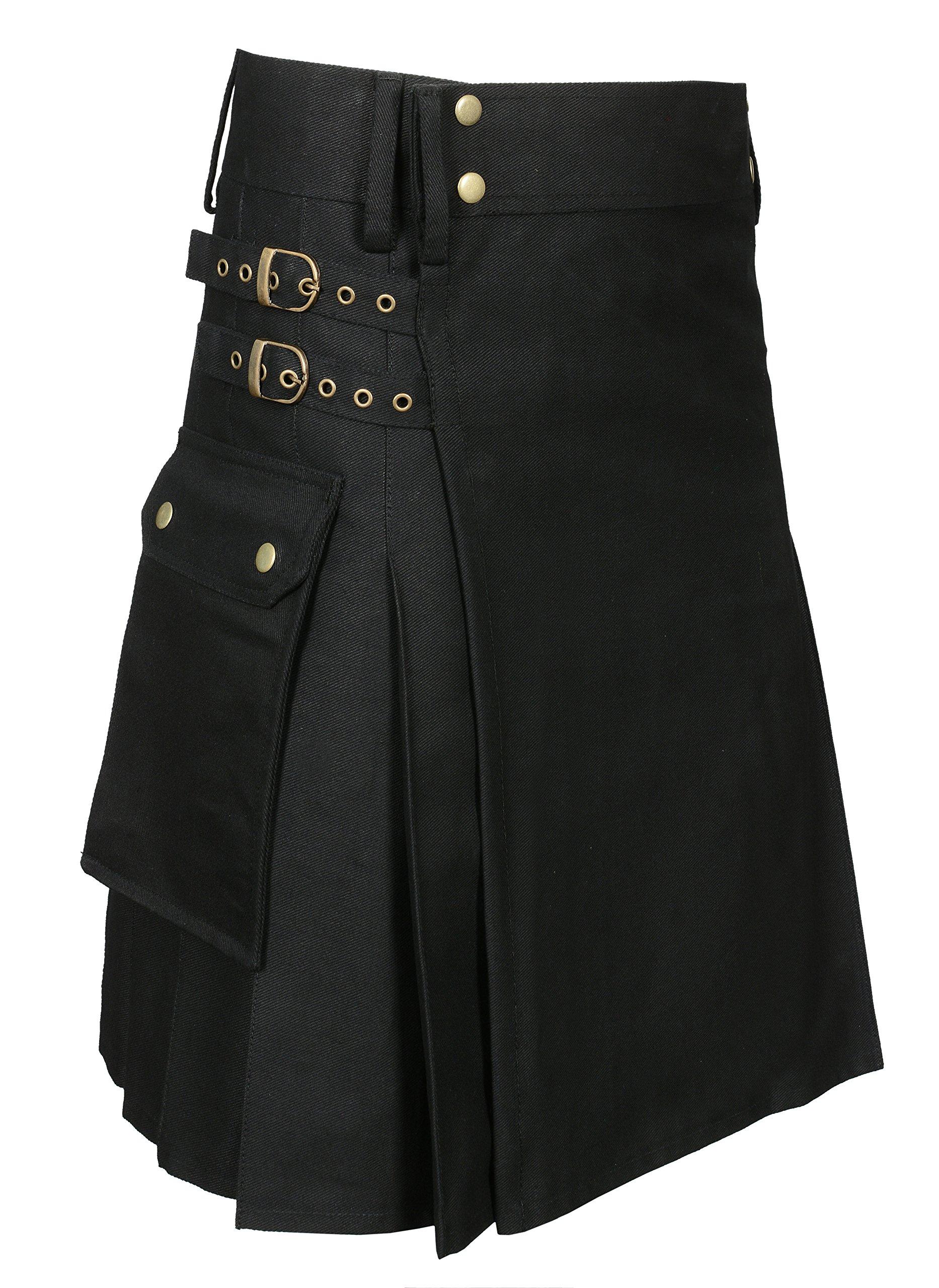 Utility Kilt Black New Size 36