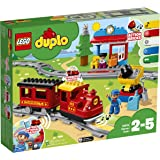 LEGO 10874 DUPLO My Town Steam Train Toy, Color-Coded Railway Set for Preschool Kids 2-5