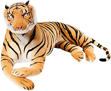 Brubaker Giant Tiger Plush Toy Brown 59 Inches King Of The