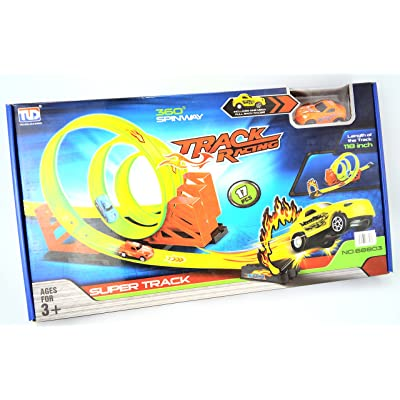 BOYS HAVE FUN TOYS Triple Loop Hot Car Wheels Track: Toys & Games