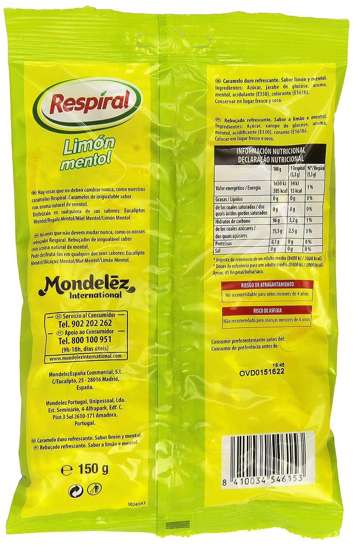 Respiral Limón Mentol Caramelo Duro Refrescante - 150 g: Amazon.es: Amazon Pantry