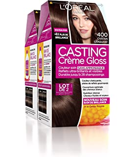 loral paris casting crme gloss coloration ton sur ton sans ammoniaque 400 chtain craquant - Coloration Cheveux Sans Ammoniaque Et Sans Oxydant