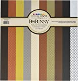 Bo Bunny Double Dot Cardstock Collection Pack, 12 by 12-Inch, Natural Necessities