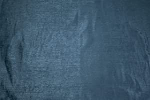 Like Velvet - Velour Home Décor Fabric by The Yard – Light-Weight Upholstery, Home Decor Material for DIY Projects, Decoration and More (Blue)