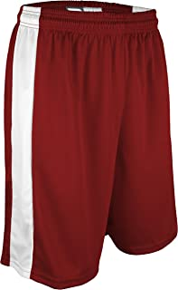 """product image for PT-6939-CB Men's and Women's Performance Dry Fit 9"""" Short with White Side Panel-Made with Moisture Management and Odor Defense (XXX-Large, Red/White)"""