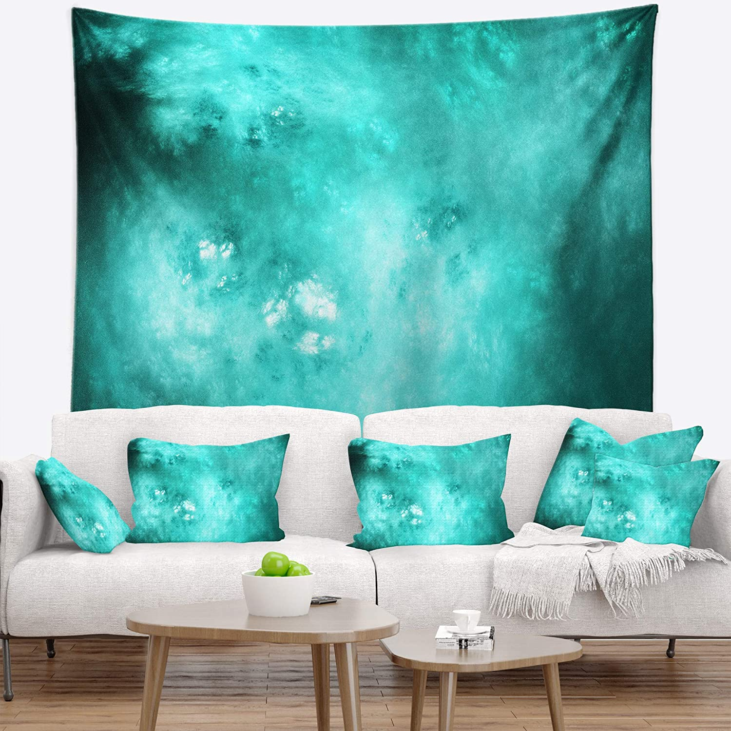 Medium x 32 in Designart TAP16384-39-32 Blur Blue Sky with Stars Abstract Blanket D/écor Art for Home and Office Wall Tapestry 39 in