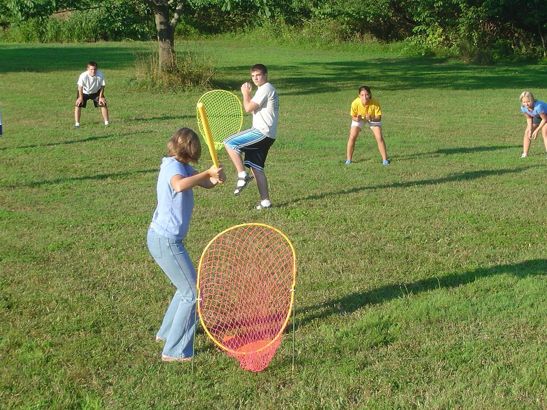 amazon com the xtra fielder backyard baseball game 4 net set