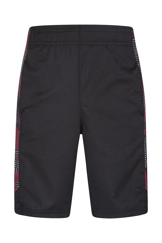 Mountain Warehouse Kids Hoop Shorts - Lightweight Childrens Summer Shorts, Elastic Waistband Short Pants, Sweat Wicking Trousers Sports, Walking, Beach & Parks