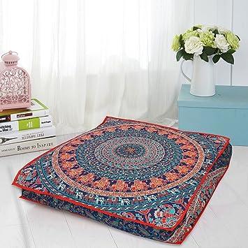 GANESHAM Manta decorativa india mandala cama para perro, mandala boho decoración, hecha a mano