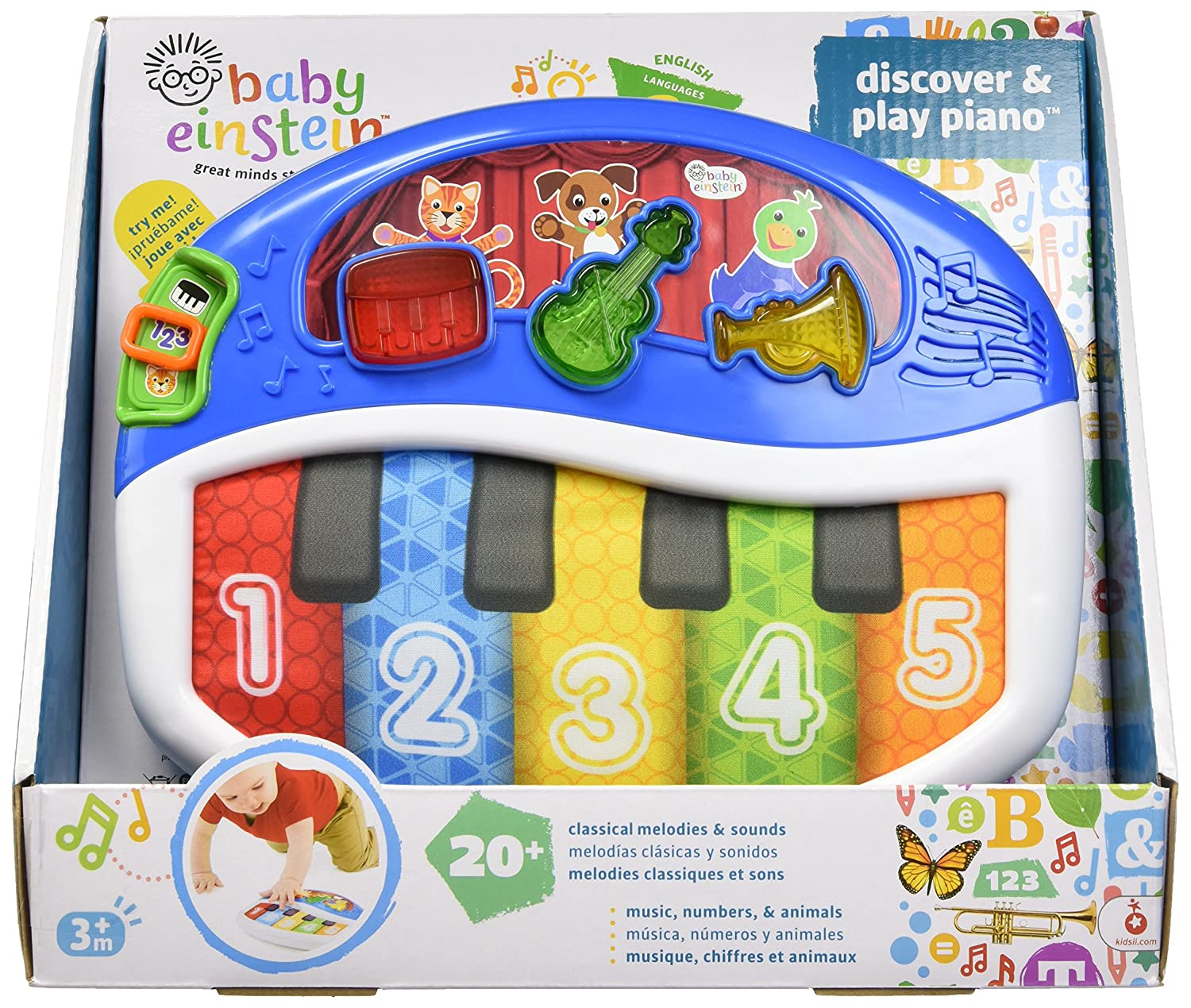 amazon com baby einstein discover and play piano baby musical