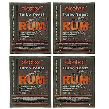 Alcotec Rum Turbo Yeast (Pack of 4)