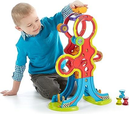 Amazon Com Fisher Price Spinnyos Racin Chasin Super Slide Toys Games