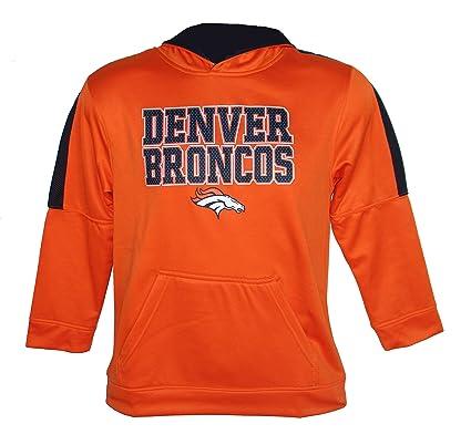 e3685d6e Amazon.com : Denver Broncos Youth Size Medium (8) Performance Hooded ...