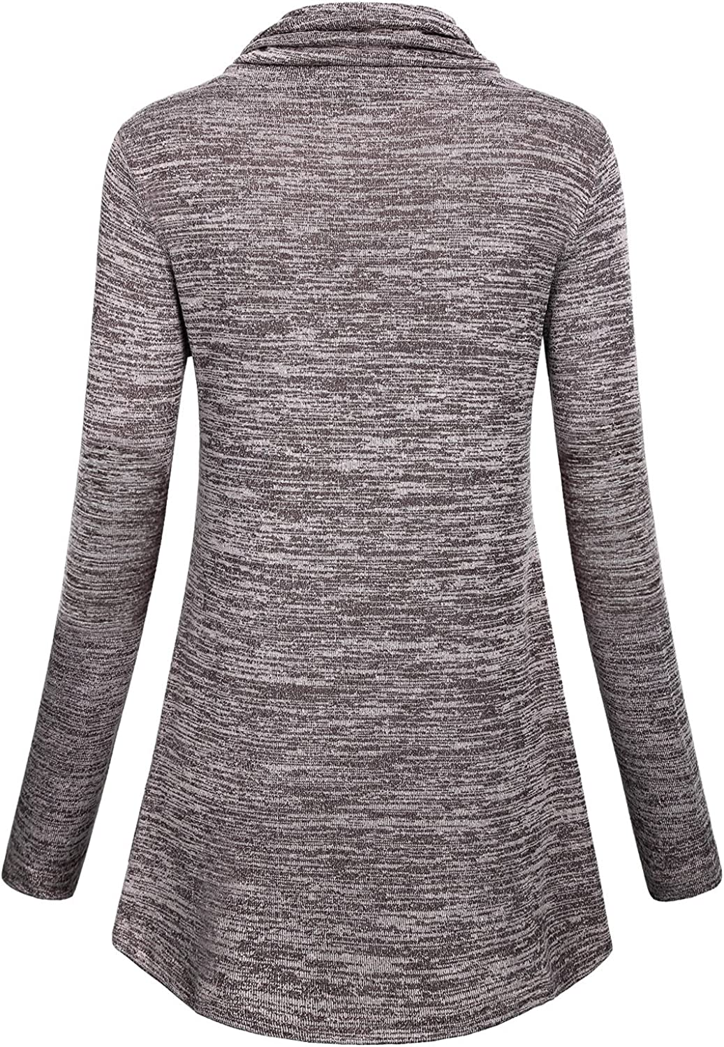 Fubotevic Mens Knit Pullover Long Sleeve Solid Color Loose Turtleneck Sweater
