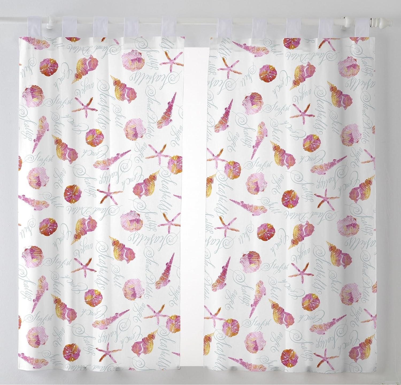 Martina Home Caracolas Cortinas Visillo para Cocina, Tela, Fucsia, 100 x 140 cm (Pack 2 Unidades): Amazon.es: Hogar