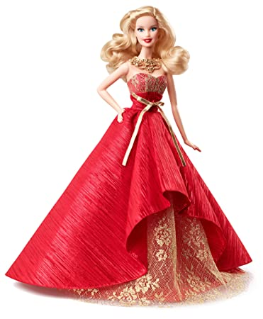 amazoncom barbie collector 2014 holiday doll discontinued by manufacturer toys games - Barbie