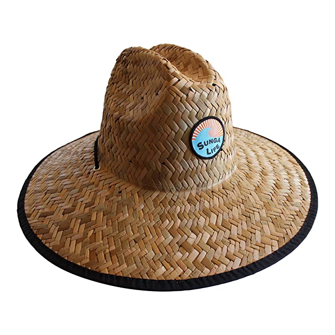 7aed1ba561b45 Image Unavailable. Image not available for. Color  Sunga Life Surf Straw Hat  for Lifeguard ...