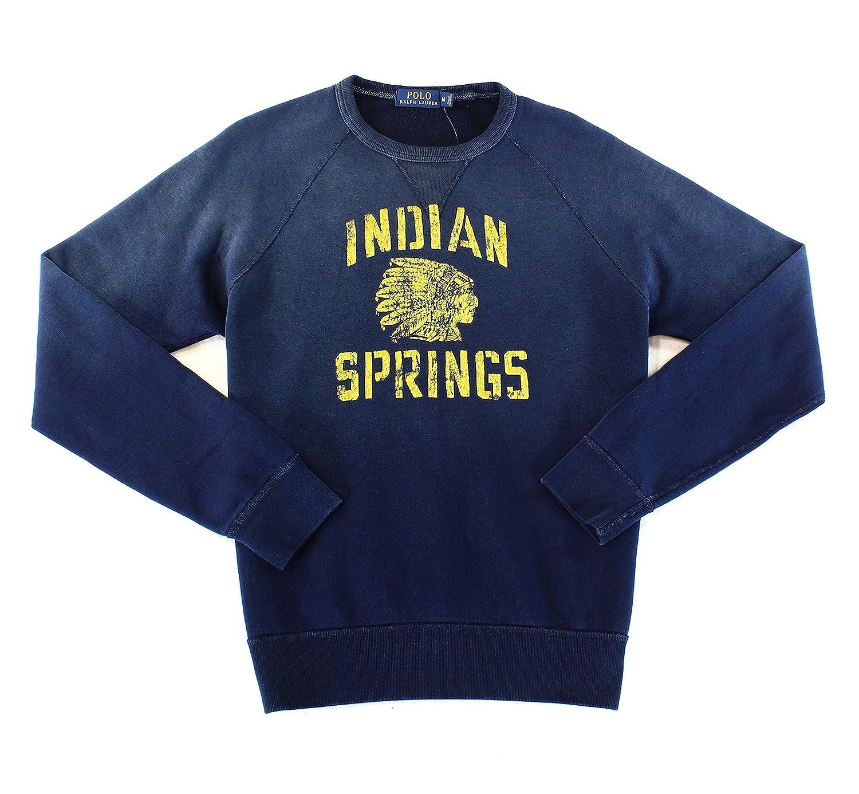 Dark Cobalt Blue Medium Polo Ralph Lauren Indian Spring Sweatshirt