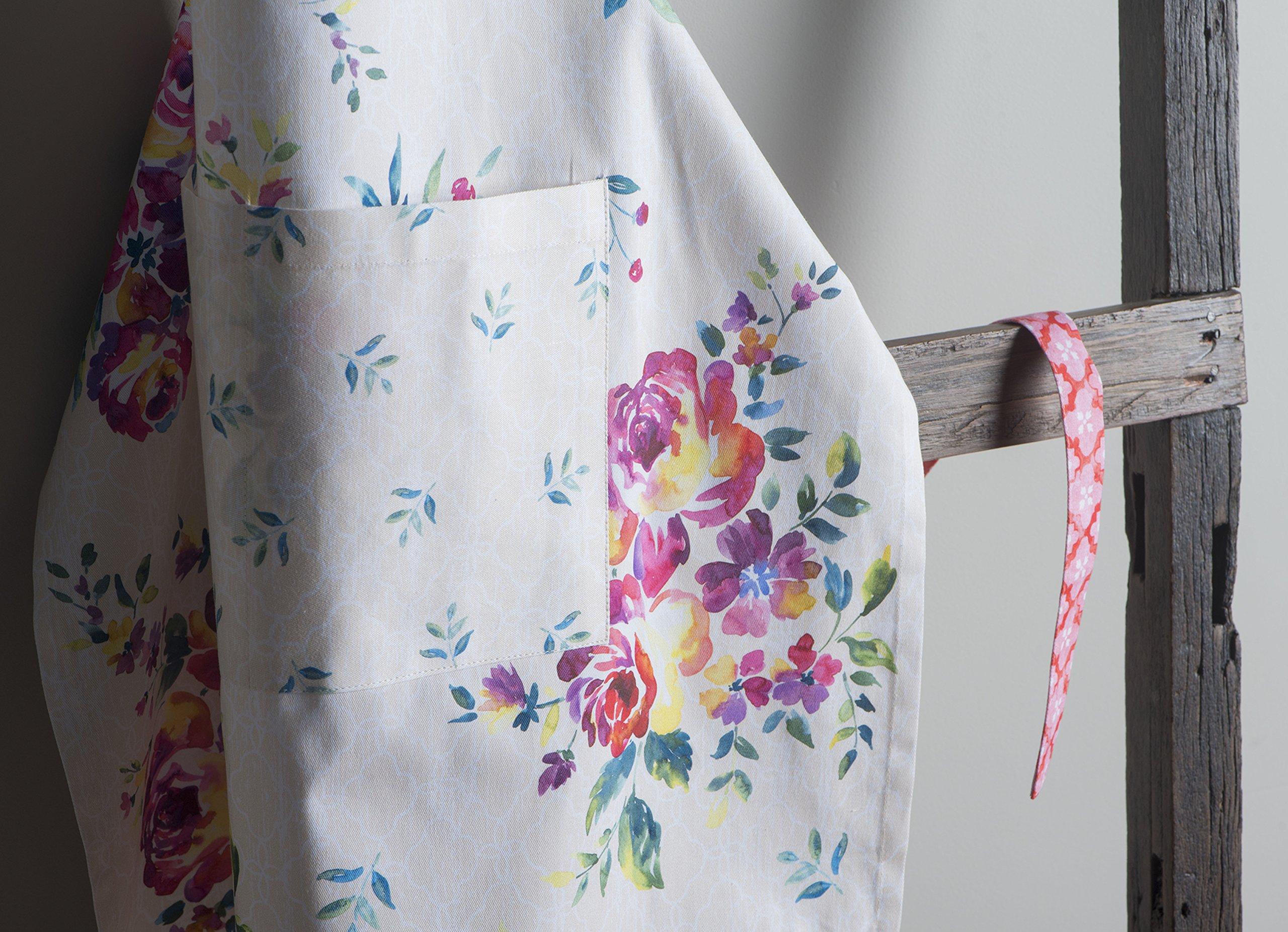 Maison d' Hermine Rose Garden 100% Cotton Apron with an adjustable neck & Visible center pocket 27.50 Inch by 31.50 Inch by Maison d' Hermine (Image #3)