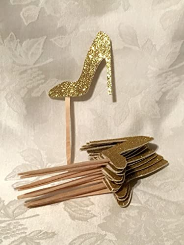 adfb3bafcf0 12 Glitter High Heel Shoe Cupcake Toppers, MANY COLORS AVAILABLE