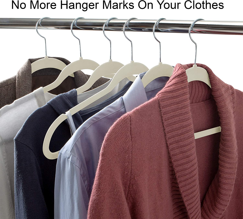 Simplify 25 Pack Velvet Hangers Chocolate