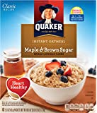 Quaker Instant Oatmeal Maple Brown Sugar - 40ct