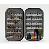 Barnsley Fly Box + 100 Assorted Fly Fishing Fly Kit