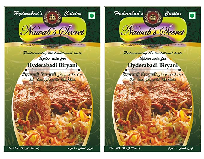 Nawab's Secret Hyderabadi Biryani Masala, 50 Grams Pack ...