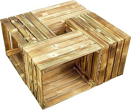 Kistenkolli Altes Land - Juego de 4 Cajas de Vino veteadas Antiguas, Cajas de Frutas, decoración de Mesa de café, Cajas de Manzana, Cajas de Madera: Amazon.es: Juguetes y juegos