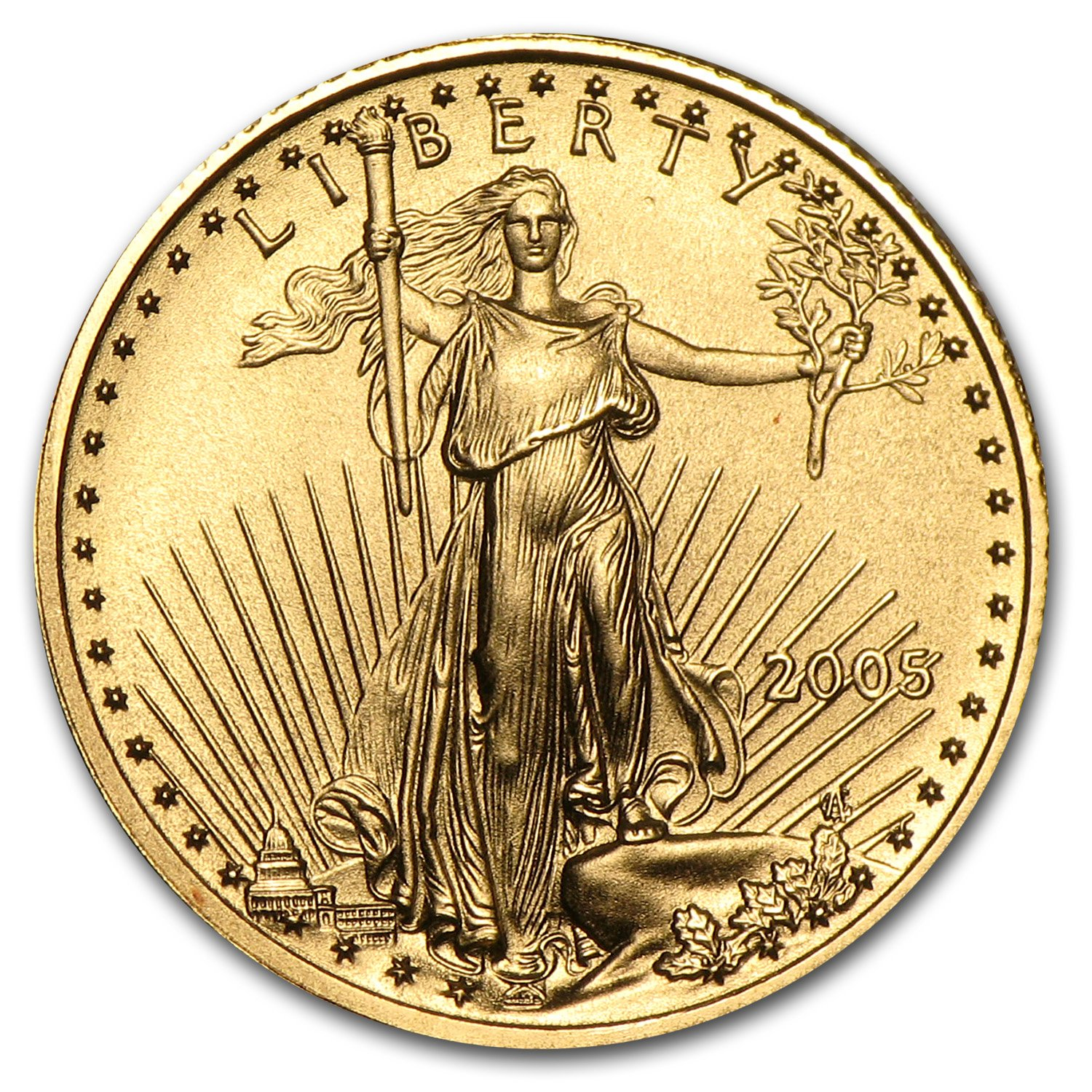 2019 1//10 oz Gold American Eagle $5 Coin Brilliant Uncirculated