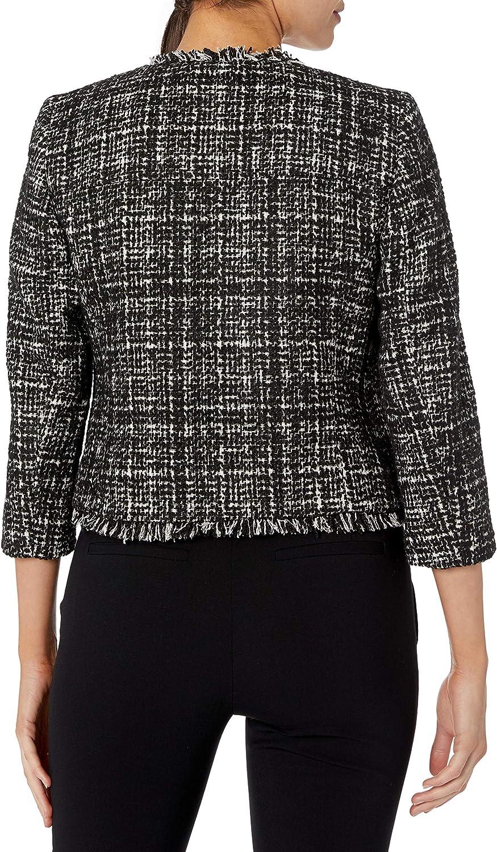 NINE WEST Womens Sequin Tweed Jacket