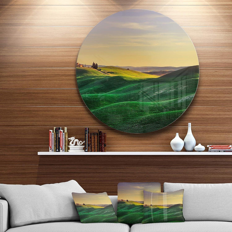 Designart MT13067-C23 Metal Artwork Green Disc of 23 inch 23X23-Disc