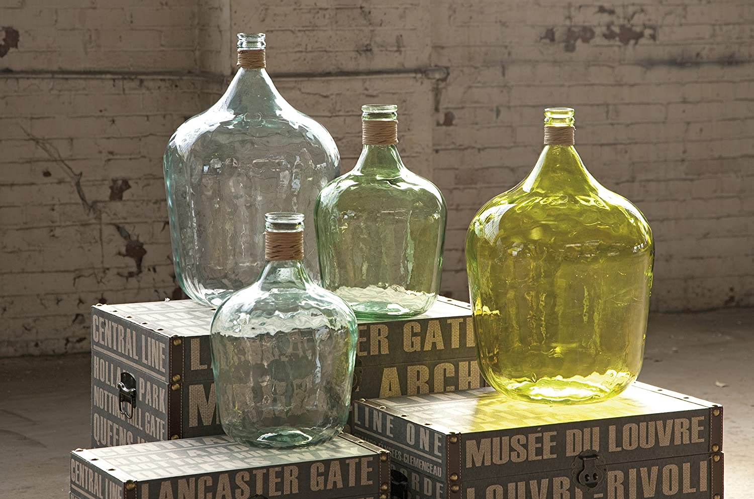 Handcrafted Display Jars Serving//Storing Decorative Accessories Storage Container for Fermenting IMAX 84508 Boccioni Glass Jug in Small Sustainable