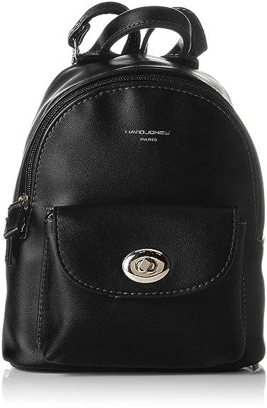 0e93962a1224 Amazon.com: David Jones Women's CM3716 Backpack Handbag Black Black ...