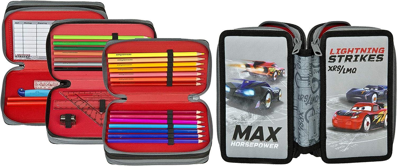 Estuche de Disney Cars, incluye Estuche, borrador, regla, etc. Estuche con diseño de Cars I para la escuela.: Amazon.es: Oficina y papelería