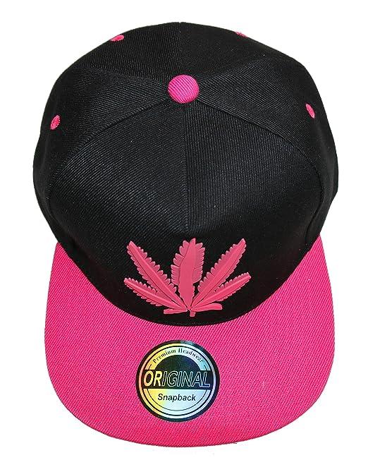 Prime Gomme Style Gorra con visera plana rosa Canabis rose  Amazon.es  Ropa  y accesorios 1b3c67b961d