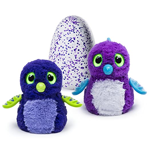Hatchimals - Draggle - Blue/Purple Egg - Hatching Egg - Interactive Creature