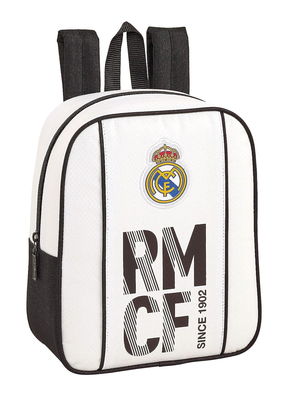 Real Madrid 611854232 2018 Mochila Escolar, 27 cm, Blanco