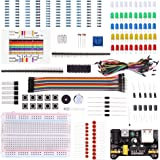 LAFVIN Electronic Fun Kit Bundle with Power Supply Module, Breadboard, Resistor, Capacitor, LED, Potentiometer Compatible with Arduino UNO, MEGA2560, Raspberry Pi