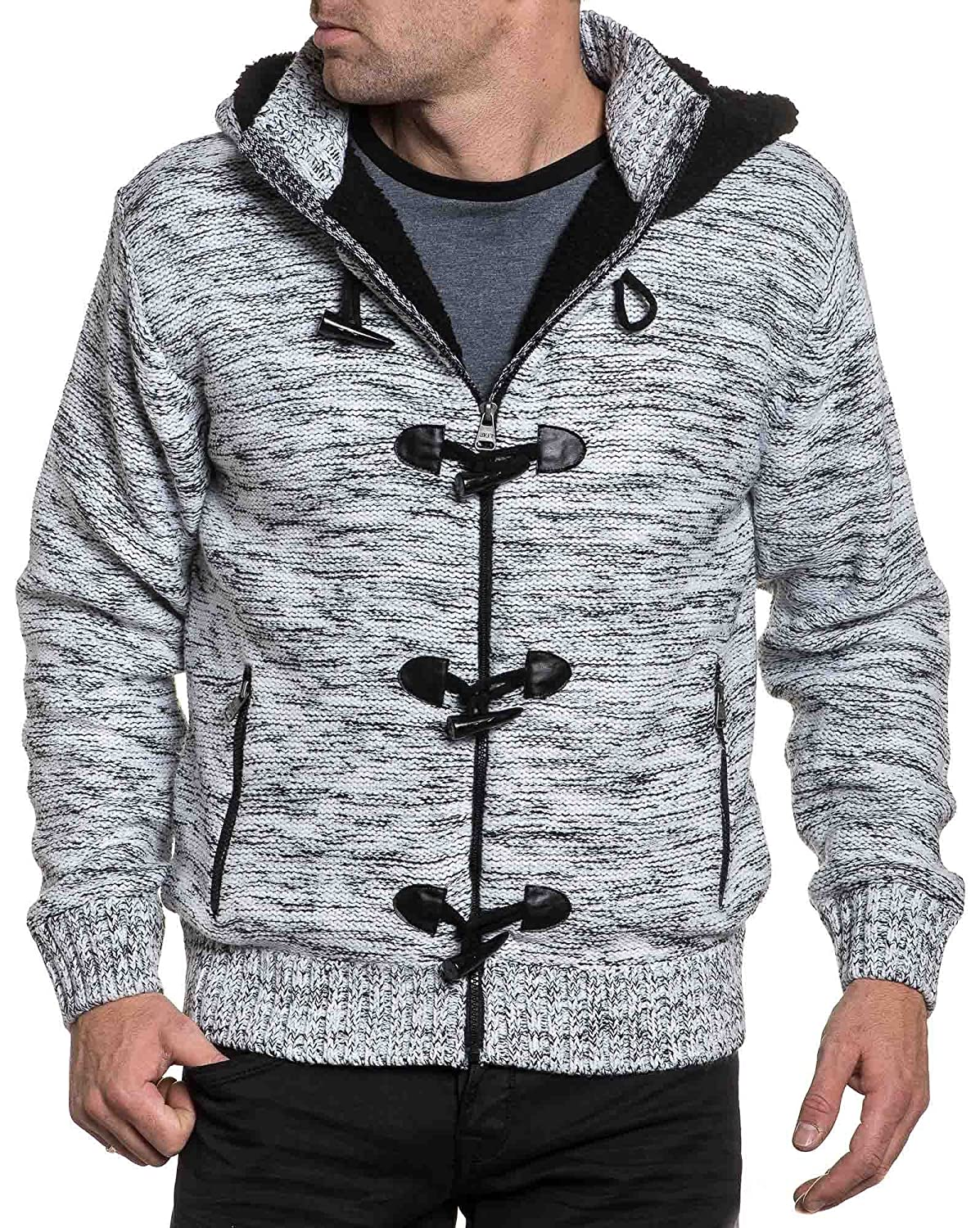 BLZ jeans - filled vest black and white hooded man