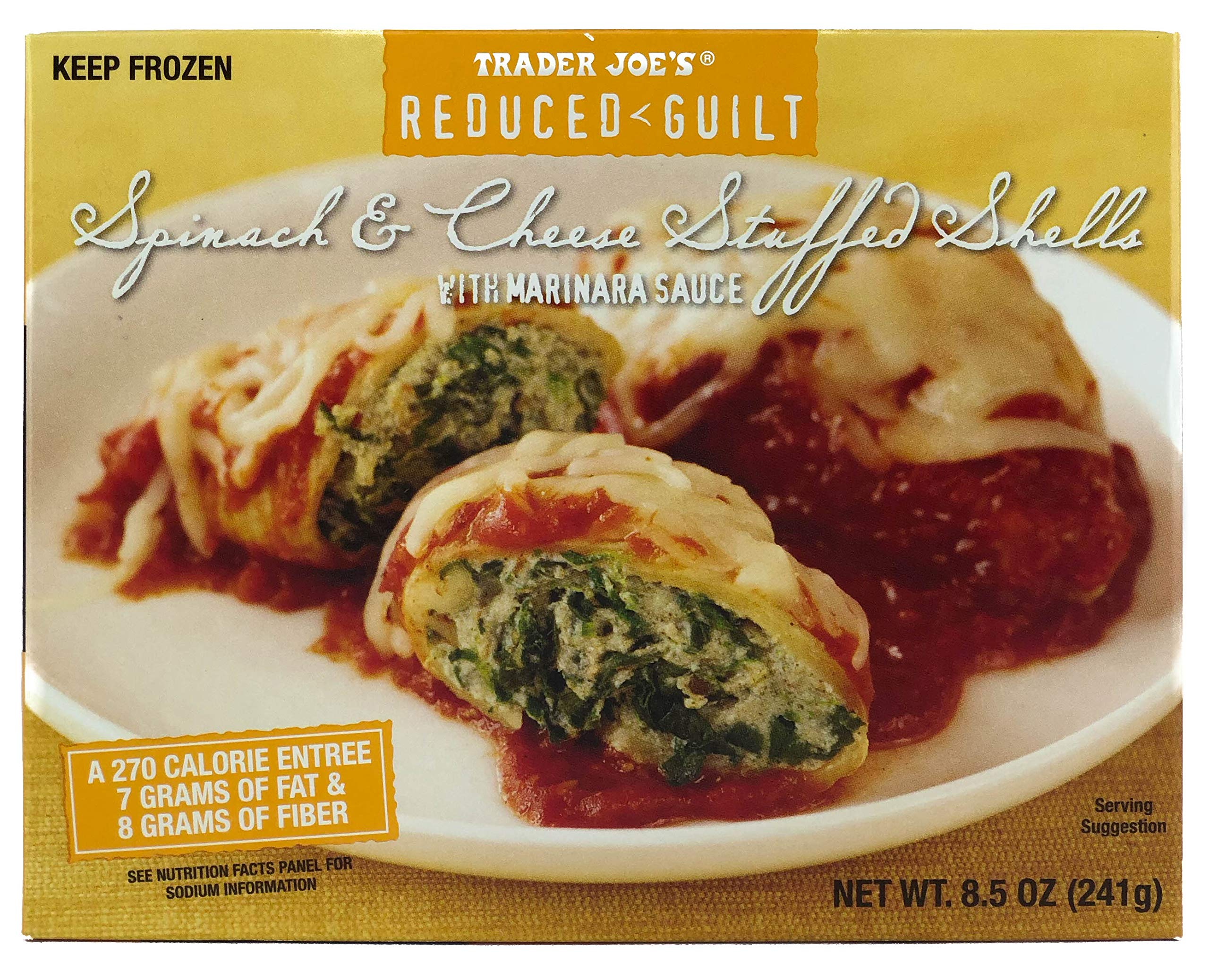 Trader Joe's Reduced Guilt Spinach & Cheese Stuffed Shells with Marinara Sauce (6 Pack)