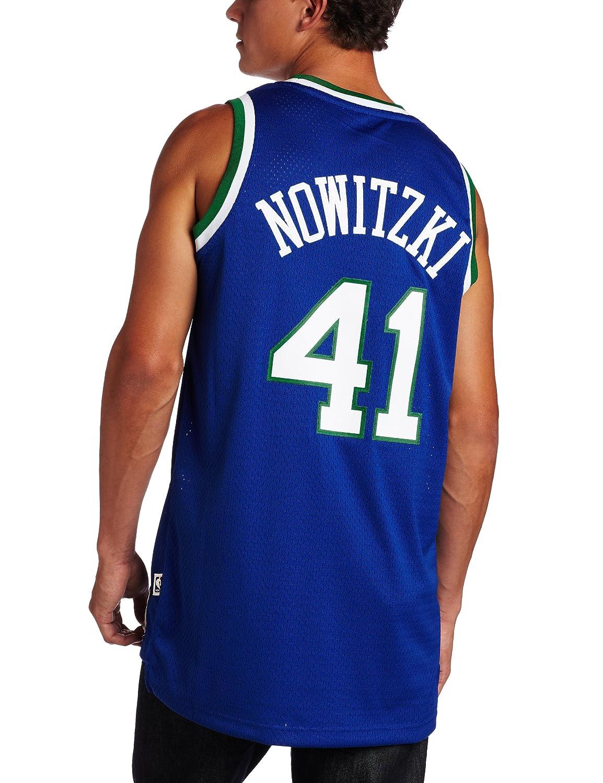 58c49ed0161 Amazon.com   NBA Men s Dallas Mavericks Dirk Nowitzki Retired Player Swingman  Jersey (Blue
