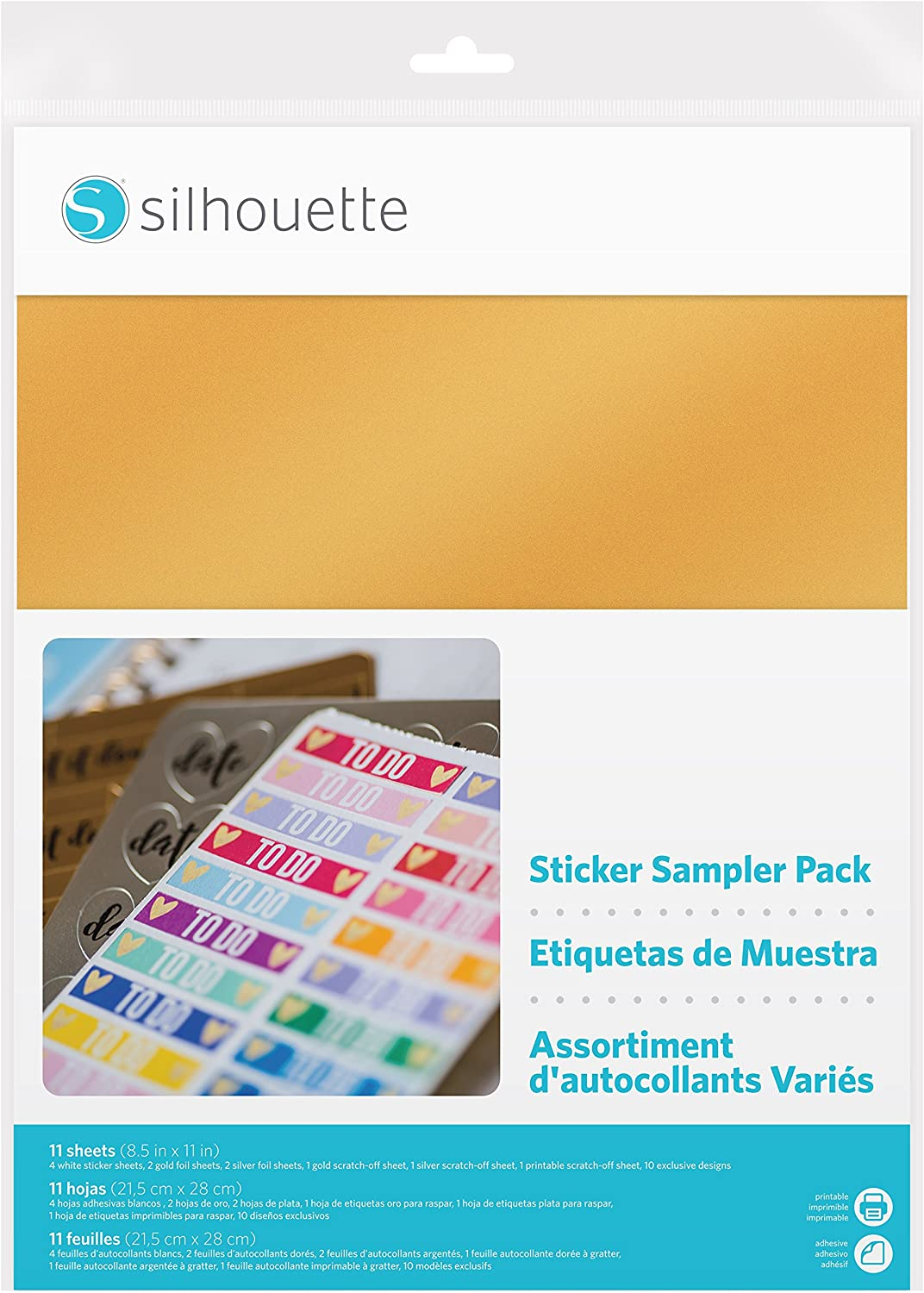 Silhouette Printable White Sticker Paper 2 Pack