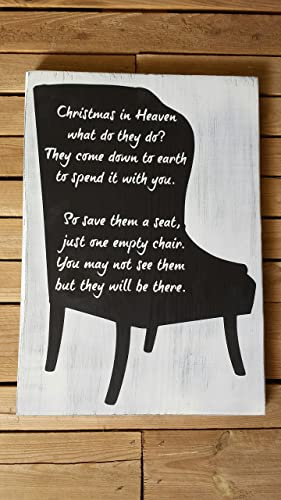 11x16 christmas in heaven what do they do poem memorial gift painted wood